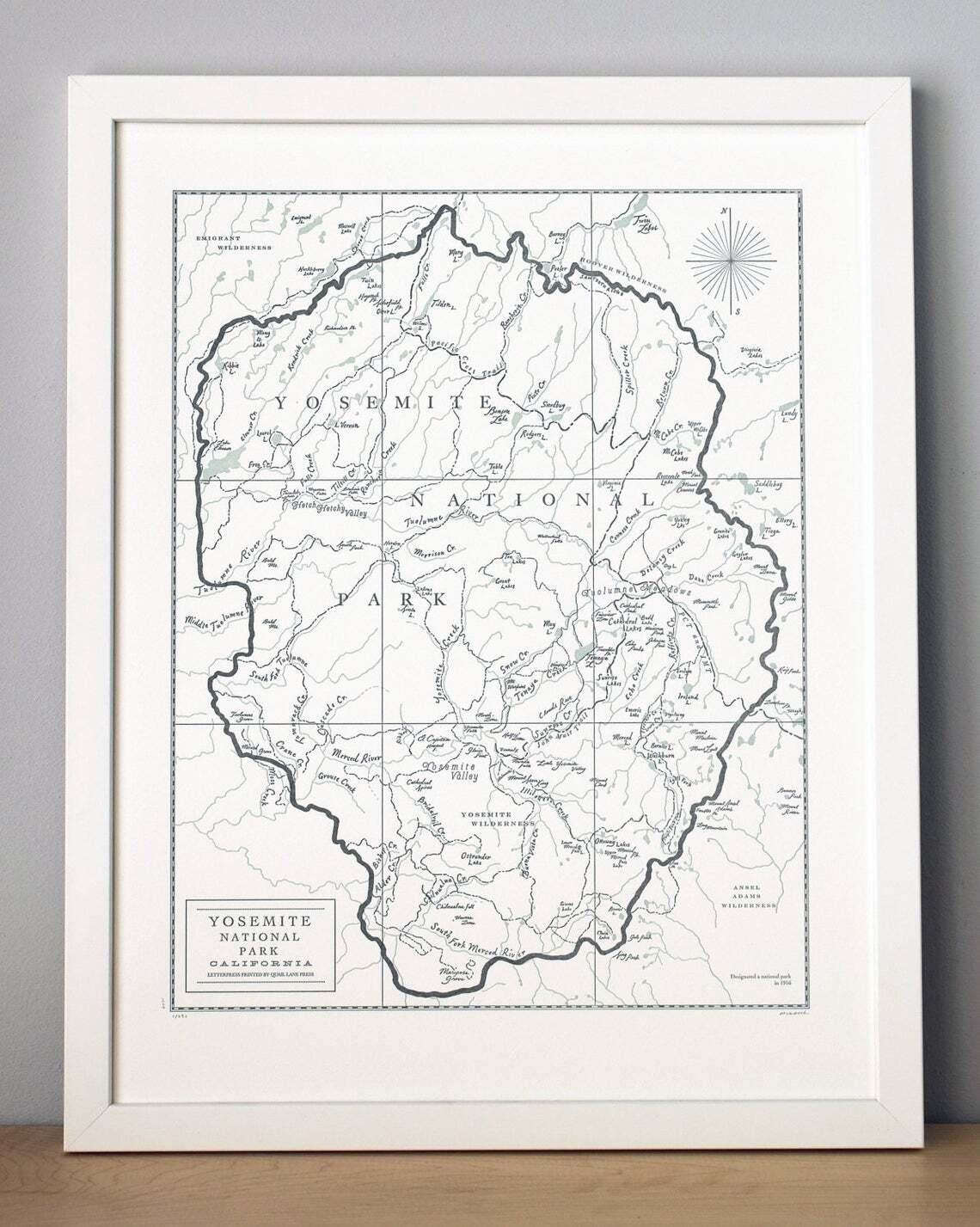 Custom Letterpress Map