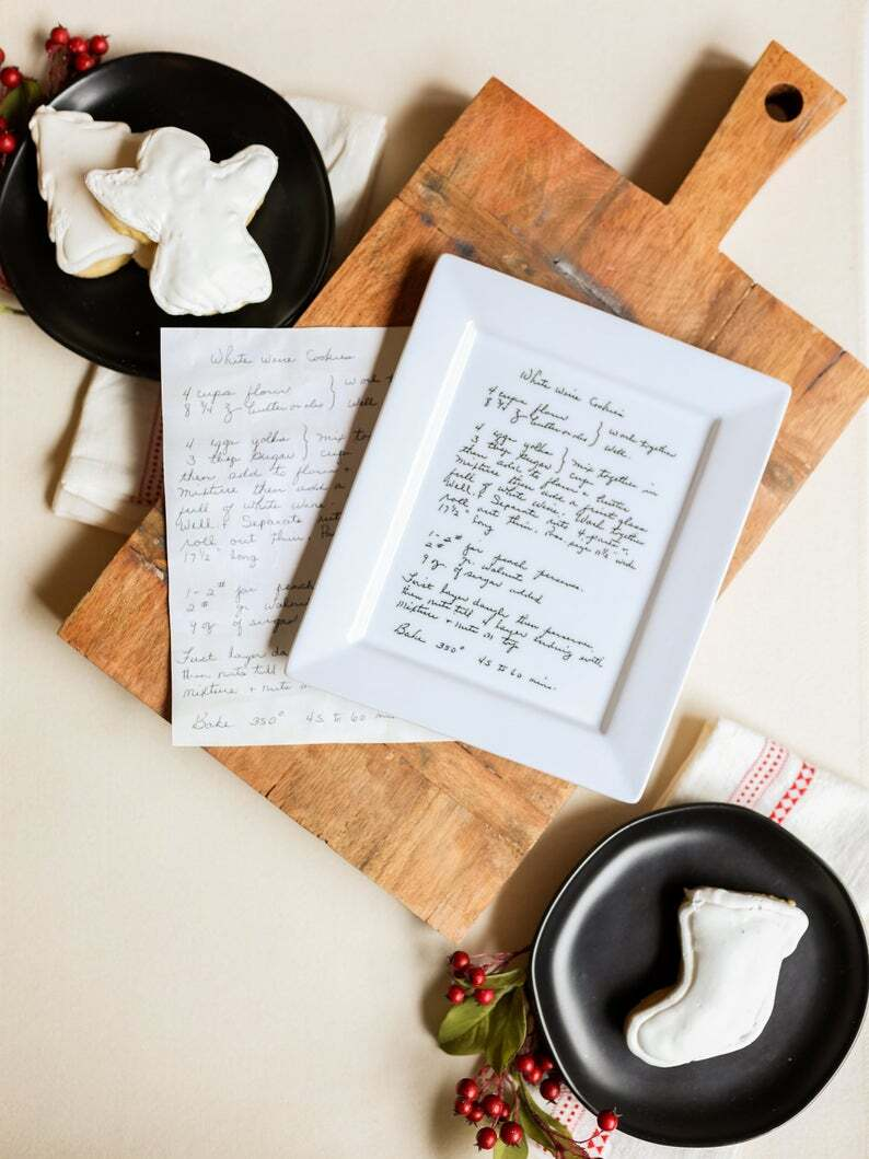 Personalized Gift Family Recipe Plate