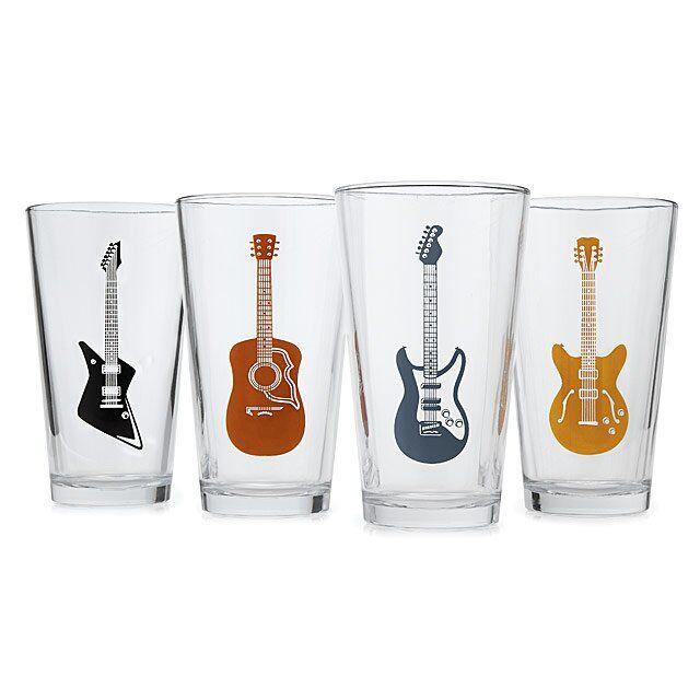 Guitar Glasses - Set of 4
