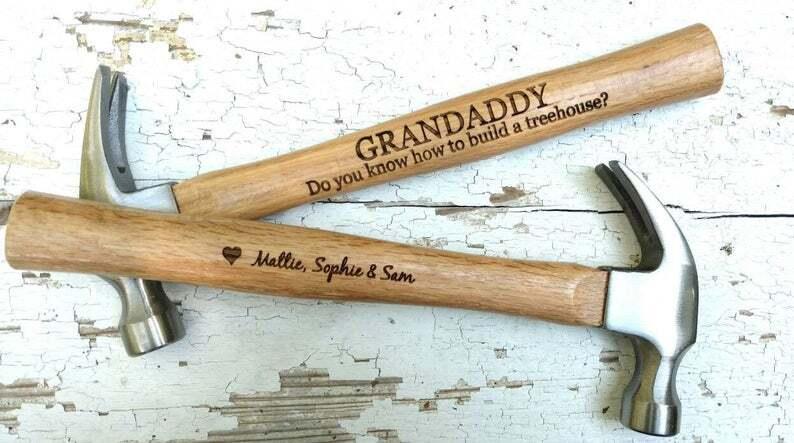 'Best Dad Ever' Engraved Hammer