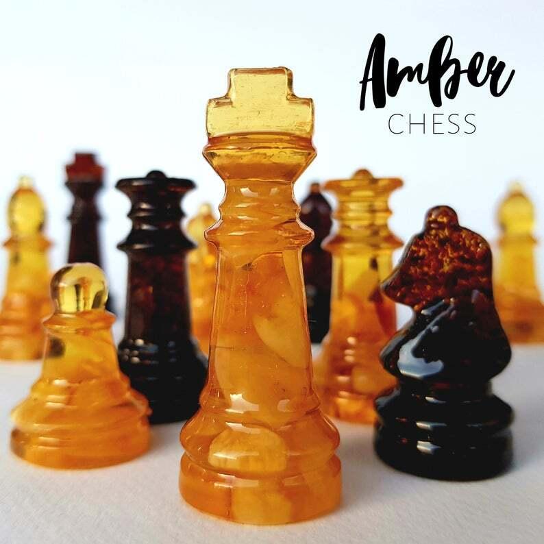 Handmade Chess Set and Chess Board