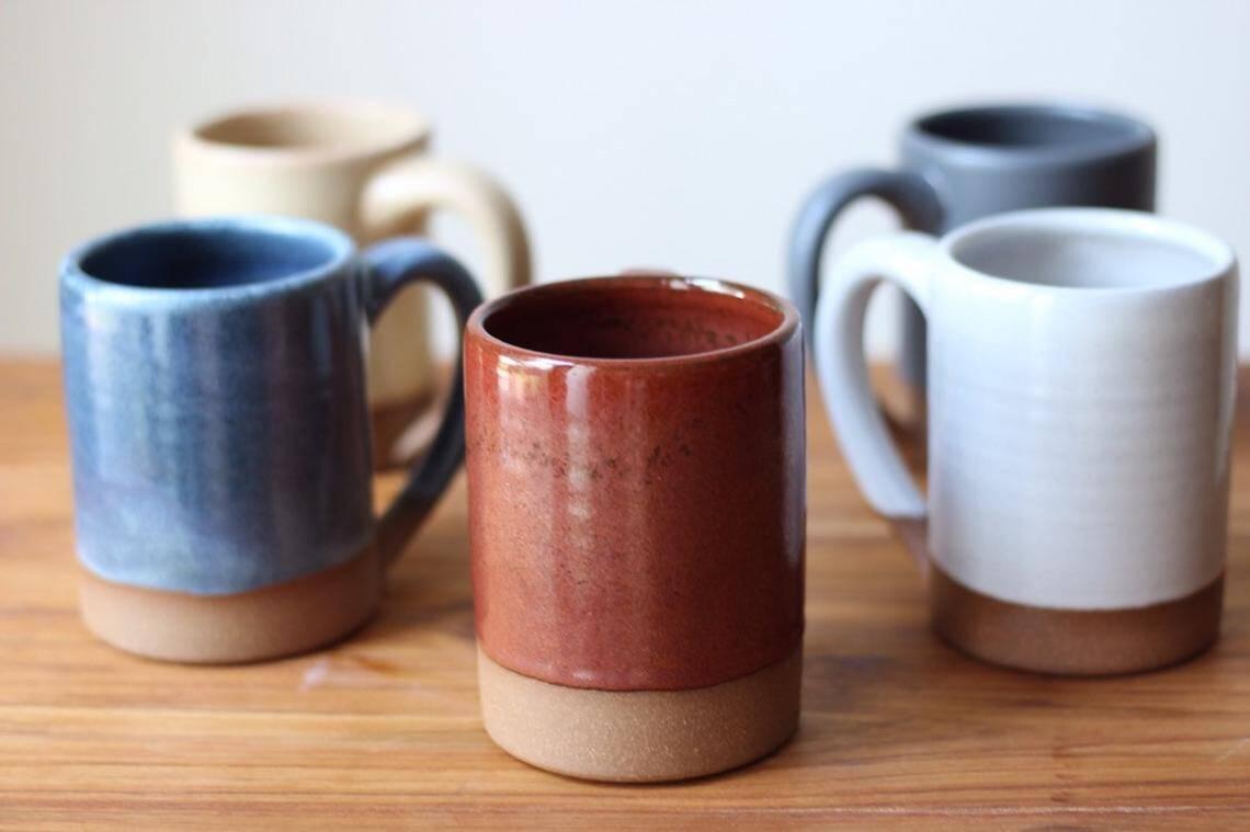 Large Handmade Ceramic Farmhouse Mug