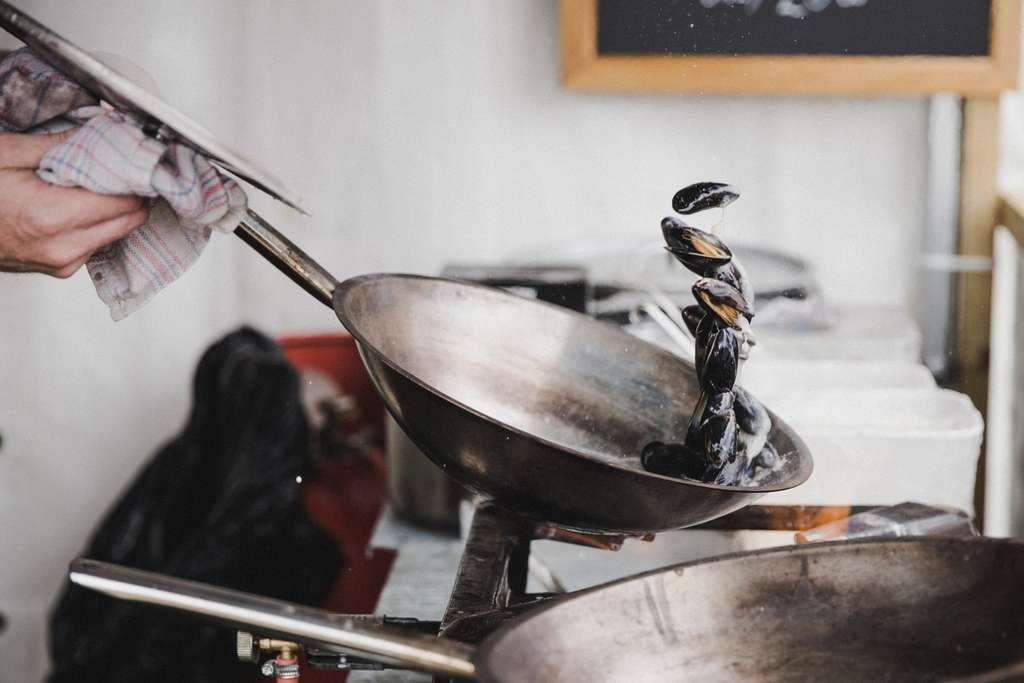 Preparación de moluscos y crustáceos