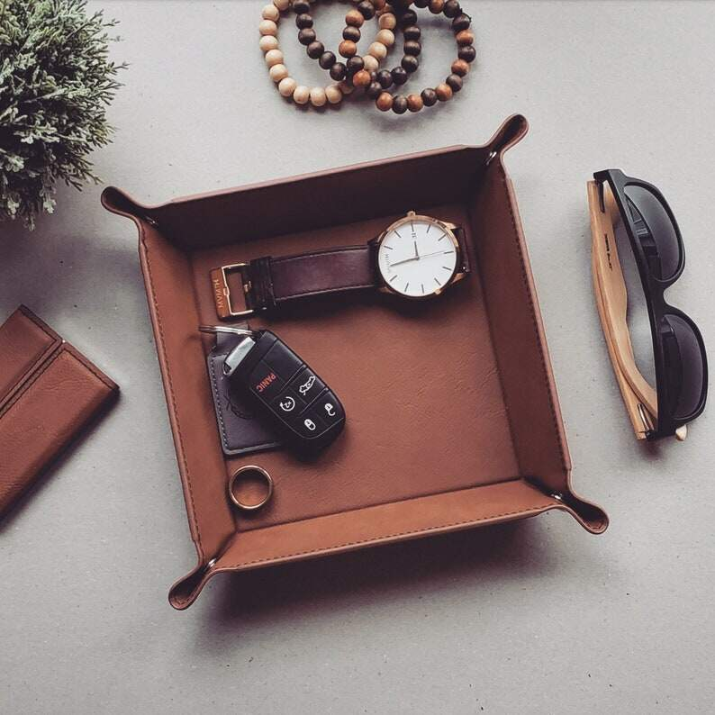 Personalized Catch All Tray Vegan Leather