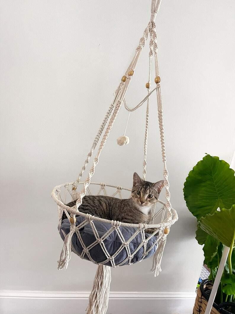 Macrame Cat Hammock